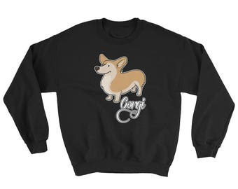 Love Corgi Dog Sweatshirt Crew Neck Sweater