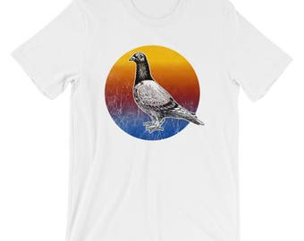 Pigeon Art Print Short-Sleeve Unisex T-Shirt Tee Design