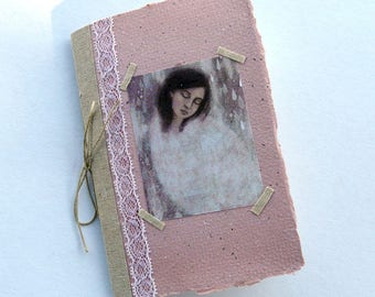 Small notebook, lace, with illustration