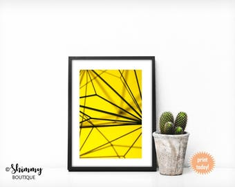 Black Lined Geo Art Print