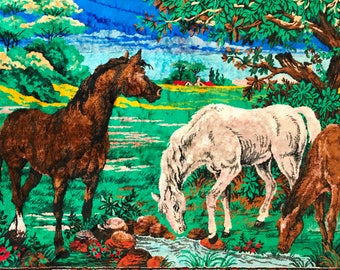 """SALE - Vintage Horse Rug 