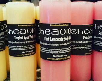 Rich & Creamy Body Wash *Moisturizing Body Wash * Organic Cleanser * Handmade Body Wash