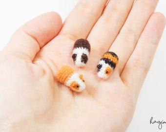 Micro crochet Guinea pig , miniature Guinea pig , tiny amigurumi animals