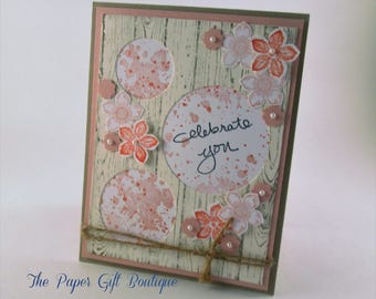 Shabby Chic Baby Girl Card