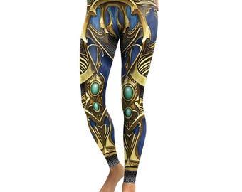 Metal Sapphire Armor Leggings