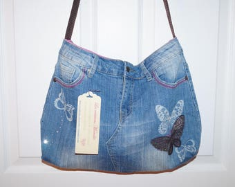 Bag made of recycled jeans (jeans purse)