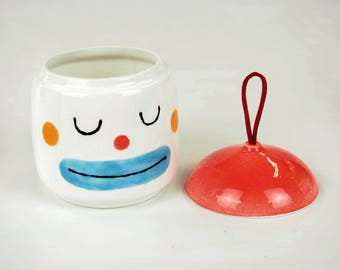 SNOWBROS - Ceramic box to store spices or small objects. Ready to send.