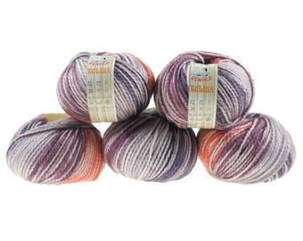 5 x 100 g yarn TULISA, #05-temptation