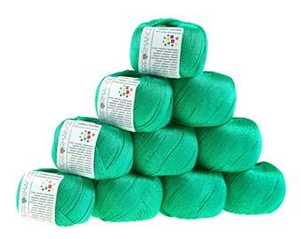10 x 50 g knitting wool cotton twinkle, #141 Green