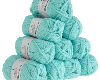 10 x 50 g wool CHIMERA #438 turquoise, wool for knitting felting