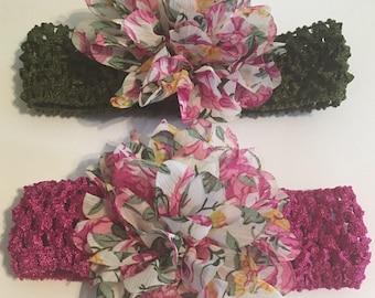 Pink Lotus Flower Headband, Lotus Flower, Headband, Pink, Floral Headband