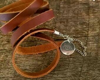 Leather Bracelet, Leather wrap bracelet