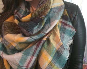 Most popular selling,Plaid Blanket Scarf, Winter scarf,Cotton Blanket scarf, Plaid Scarf, Tartan scarf, Blanket plaid scarf