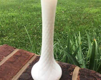 Milk Glass Flower Vase