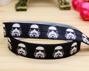 Star Wars Storm Trooper Fold Over Elastic FOE 5/8 Inch