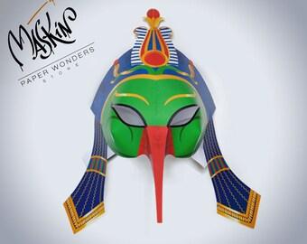 Thoth mask PRINTABLE. Masquerade mask. Egyptian mask. Mask template. Bird mask. Masquerade mask. Party mask. Ancient Egypt mask. Egyptian