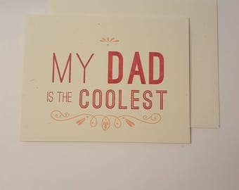 Coolest Dad Greeting Card