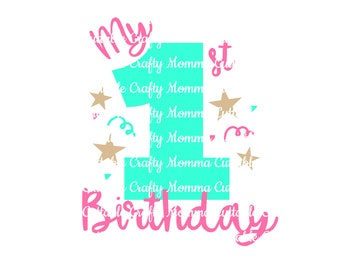 Twinkle Little Star 1st birthday file / First Birthday Svg / 1st birthday Cut File // First Birthday // Cutting File // SVG file