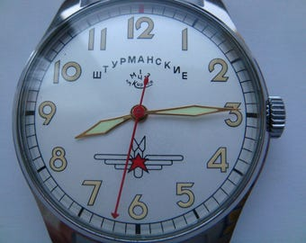 SHTURMASKIYE wristwatch 1st MChZ movement soviet watch 16 jewels 1956