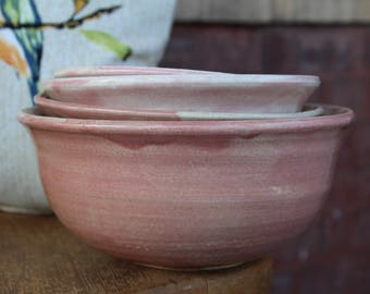Ceramic Nesting Bowl Set