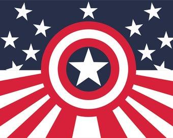 Avengers flag | Captain America Landscape | 3x5 ft / 90x150 cm