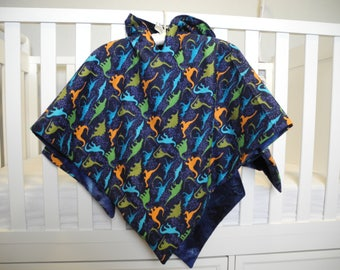 Lightweight Baby Boy Blue Dinosaur Car Seat Canopy And Child Poncho Dinosaurs