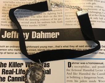 Velvet choker with cameo pendant Jeffrey Dahmer