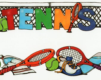 Tennis Title Over-alls Page Topper 6x12 Title Scrapbooking Scrapbooks Ek Success Embellishments Cardmaking Crafts