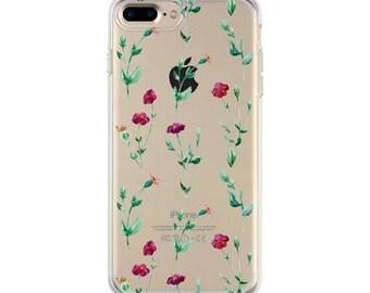 Wild Flowers iPhone 8 transparent case, iPhone 7 case , iPhone 6 case, iphone 6s case clear case