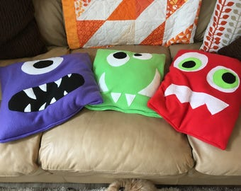 Weighted Childs Lap Pad/ Monsters/ 2 or 3 or 4 lbs Lap Pads/ Lap Pads/