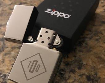 Monogram Etched Zippo Lighter - Groomsmen Gifts