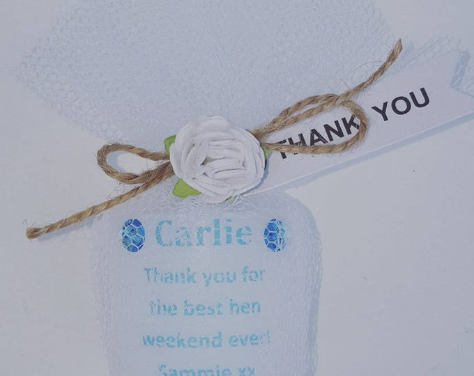 Custom made personalised candle with any wording