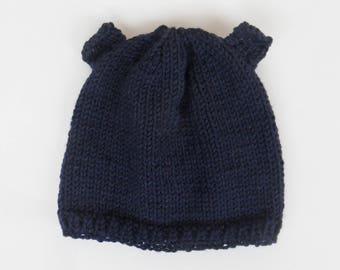 Baby blue Teddy bear Hat night