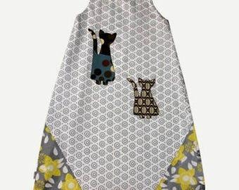SALE baby sleeping bag printed cotton summer polka dot flower motifs geometrical 95cm: 15-30 months. * 27,50E instead of 55 *.