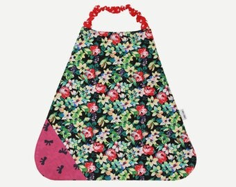 BALANCES elasticated bib Terry and cotton flowers and noeuds.*9E instead of 12 *.