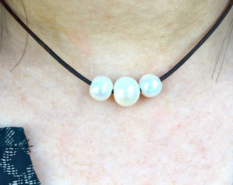 Triple Freshwater Cultured Pearl Necklace