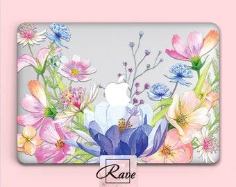 MacBook floral case MacBook pro 15 case MacBook air Flower MacBook cover MacBook 13 inch case MacBook 2015 case laptop case clear MacBook 12