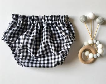 Baby girls gingham nappy cover bloomers