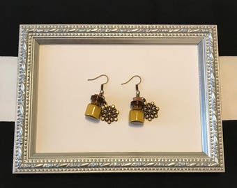 Earrings Steampunk Snowflakes
