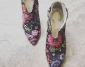 Flower Ankle Boots tropical shoes summer shoes made in Italy MDMA design