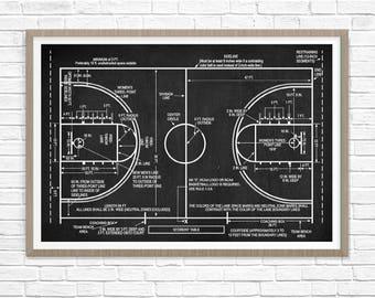 Basketball Poster , Basketball Coach Gift, Basketball Patent Print, Basketball Decor, Basketball Blueprint , Basketball Wall Art