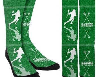 Lacrosse Crew Socks - Lacrosse Socks -Lacrosse Clothing - Boys Lacrosse Socks - Girls Lacrosse Socks -Socks for Lacrosse - FREE Shipping A14