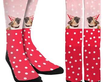 Pugs Crew Socks - Pug Socks - Socks with Pugs - Funny Socks - Crazy Socks - Cute Socks - Unique Socks - Novelty Socks -FREE Shipping C21