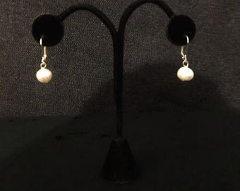 Cultured 10mm Drop Pearls Earrings