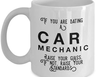 if you are dating a Car Mechanic raise your glass. if not, raise your standards - Cool Valentine's Gift