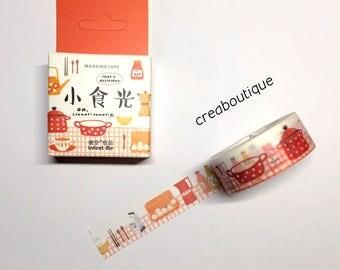 1 rouleau masking tape (washi) illustrations la cuisine, 15mm*7m