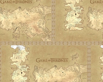 Fabric Game of The Thrones Map Of Westeros Cotton Fabric Quilt