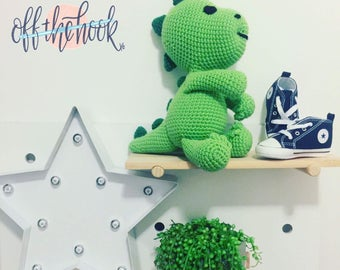 Darcy the Dinosaur - Handmade Crochet Soft toy