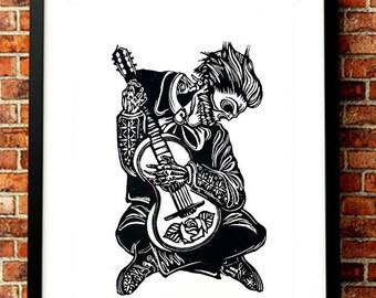 El Mariachi Skeleton, Mexican Mariachi Art, Traje de Mariachi Guitar, Mariachis, Mariachi Outfit, Mariachi Dress, Mariachi Mexican
