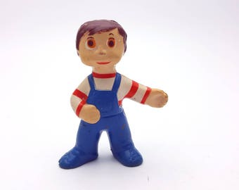 Vintage Pruneau from 1980's Passe Partout Character from the hit tv show figurine pvc plastic figure doll Quebec Canada